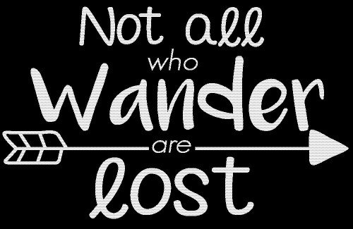 Not All Who Wander Are Lost Wanderlust Decal Vinyl Sticker Cars Trucks Vans Walls Laptop White 5 5 x 3 5 in CCI1045 in Car Stickers from Automobiles Motorcycles
