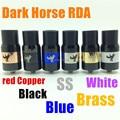 Dark horse RDA RBA clone rebuildable atomizer big cap drip tips fit 510 mods ego cigarettes VS little boy mutation x plume veil