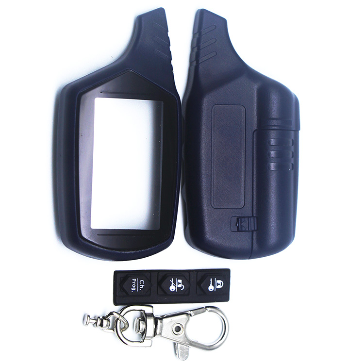 Russia Version EZ-beta Case Keychain For Jaguar EZ-beta Lcd Remote Two Way Car Alarm System Free Shipping