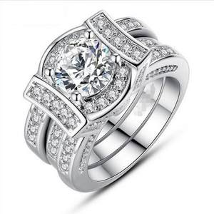 1425afcc4 choucong Vintage Engagement Wedding Band Ring set for Women