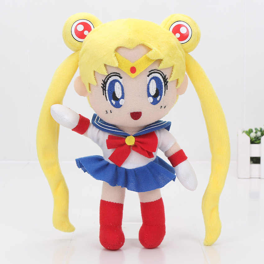 Anime Sailor Moon Toy Plush Bonito Stuffed Dolls 20-22 cm Sailor Jupiter Animal Plush Doll Figura Brinquedo para presente de natal das crianças