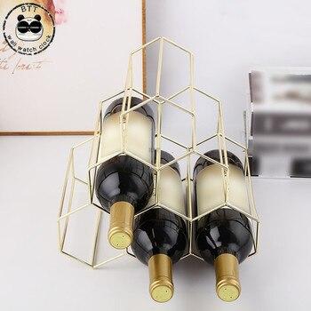 6 wino w butelce stojak metalowy wolnostojące kuchnia stojak do przechowywania szafka do wina wina z winogron wyświetlacz półki Bar piękny geometryczne żelaza
