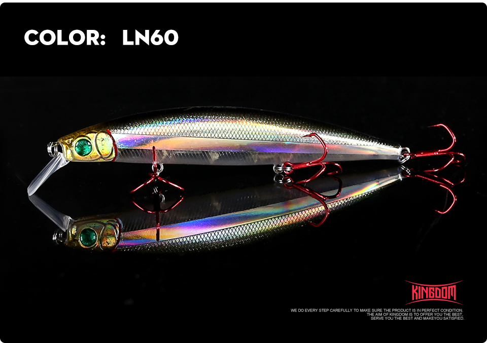Kingdom Fishing lures 10g90mm 23.5g128mm Floating Minnow and Pencil Switchable Lilps artificial baits for sea bass wobblers 5358 (12)