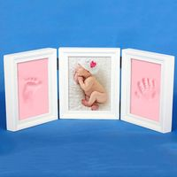 New DIY Photo Frame Imprint Soft Clay Cute Baby Footprint Hand Exquisite Print Cast Set Gift