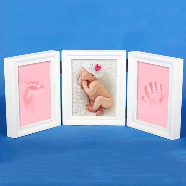 DIY foto Marcos impresión suave arcilla lindo familia foto mano de ...