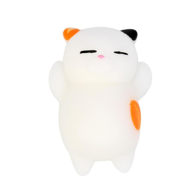 Cute Squishy Toy 4 Colors Stress Relief Anti-stress Toys Kawaii Squishy Animal Cat Toy For Children adults Drop ShippingStress Relief Toy