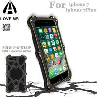 Orignial Love Mei MK2 Slim Bumper Metal Shockproof Aluminum Phone Cases for iPhone 7 7 Plus Anti knock Cover Tempered Glass Film