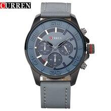 Curren 2016 moda de nueva marca diseño hombres de negocios reloj ocasional de cuero de lujo de pulsera de cuarzo reloj del deporte del ejército 8187