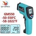 GM550-50 ~ 550 C Termómetro infrarrojo Digital Pirómetro termómetro Acuario Termómetro láser Al Aire Libre
