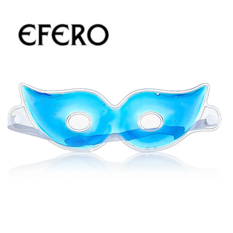 EFERO Cold Gel Eye Mask Eye Care Cooling Mask Sleeping Reduce Dark Circles Relaxing Relieve Fatigue Relaxation Eyes Pad Masks in Creams from Beauty Health