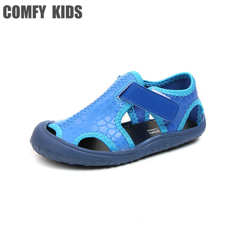 COMFY KIDS Summer Arrivals New Beach Kids Child Sandals Shoes Inside 16cm-22cm Big Kids Beach Shoes Flat With Boys Sandals Shoes