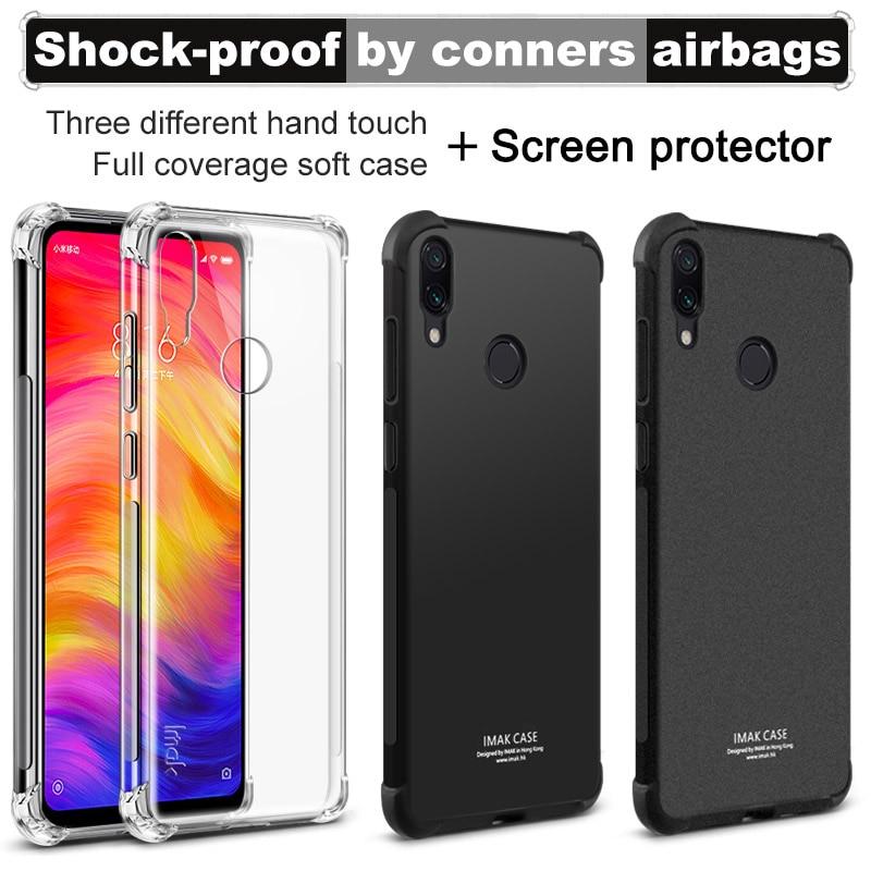 Xiaomi Redmi Note 7 Case IMAK Soft Silicone TPU Airbag Cover Case For Xiaomi Redmi Note 7 Note7 Phone Case Gift Screen Protector redmi note 7 pro cover