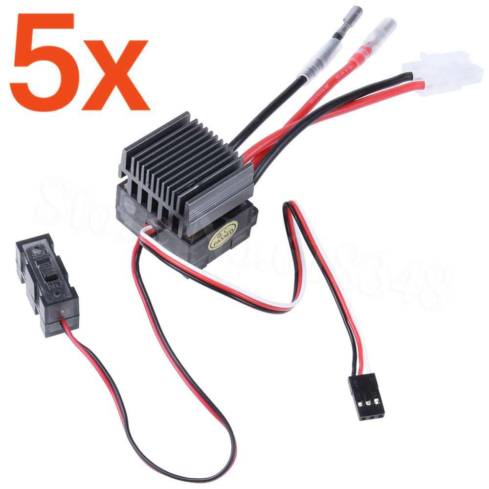 5 stücke Hohe Spannung 320A GEBÜRSTET ESC Pinsel Speed Controller Umge RC HSP 1/10 1/8 Auto Monster Truck Buggy himoto Redcat
