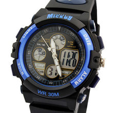 Disney Mickey sports activities youngsters watches digital waterproof youngsters boys pupil clocks Multifunction wristwatches blue PS021