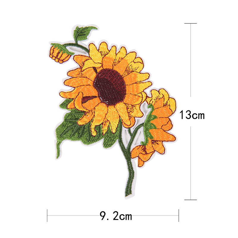 Iron On sewing craft On Embroidered Applique Patch Clothes Stickers DIY Apparel Accessories Yellow Daisy Sunflower Patches