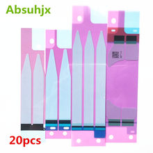 Absuhjx 20pcs Battery Adhesive Sticker for iPhone 6 6S Plus 7 7P 3M Double Tape Pull Trip Grue for iPhone X 8 8P 5S 5C XS Max(China)