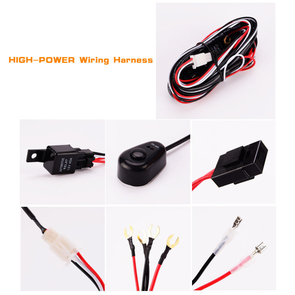 Iztoss Round Led Work Light 27w Spot Driving Lamp Waterproof Fog Wiring Harness Lights With For Truck Car Offroad Jeep In Assembly From