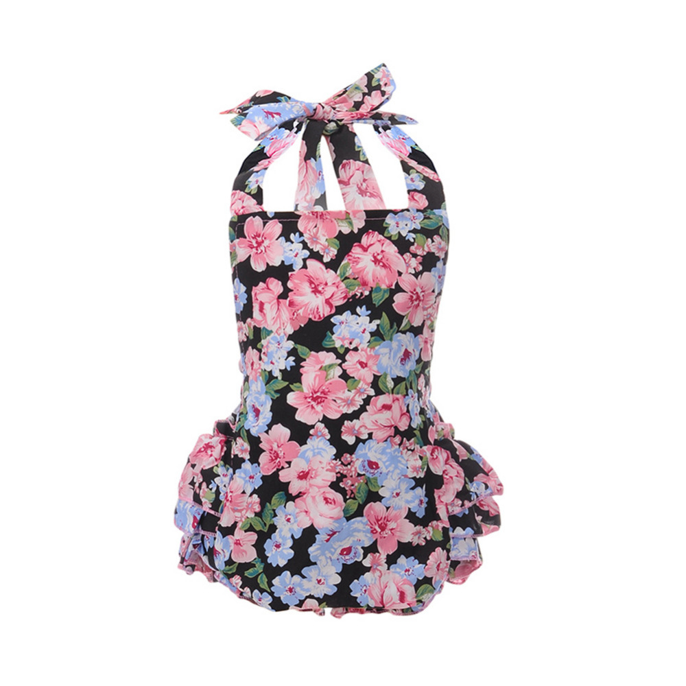 Cotton Baby Girl Infant Rompers Suit Floral Print Ruffle One-Piece Romper Newborn to 2T Infant Clothes Cherry Blossoms newborn baby rompers baby clothing 100% cotton infant jumpsuit ropa bebe long sleeve girl boys rompers costumes baby romper