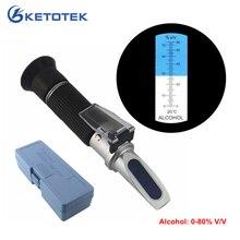 Портативный детектор алкоголя рефрактометр 0-80% V/V измеритель содержания спирта