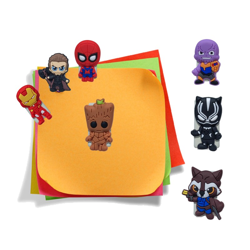 1pcs Cute Paper Clips Avenger Infinity War Bookmarks DIY Binder Clips For Note Paper Stationery Binding Supplies Kids Gift
