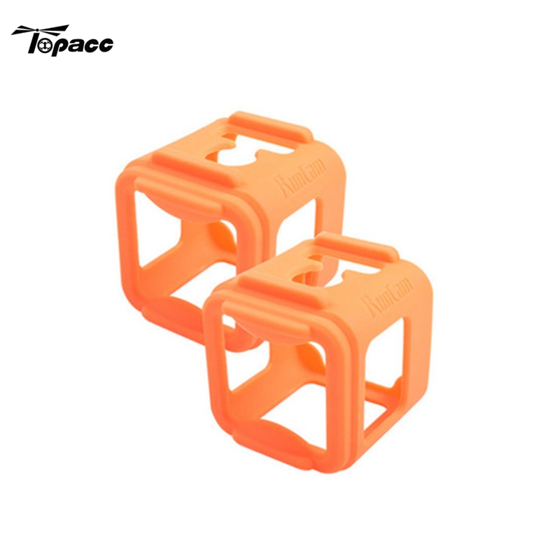2 PCS Silicone Frame FPV Camera Mount Cover Holder Shell for RunCam 3 for Gopro Session DIY Spare Parts Accessory Quadcopter camera frame soft silicone case cover protective frame for gopro hero 5 action camera accessories purple