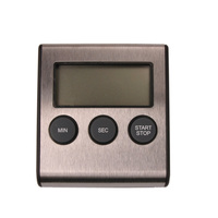 Magnet Kitchen Timer Stainless Steel Large LCD Screen Kitchen Timer Free Shipping