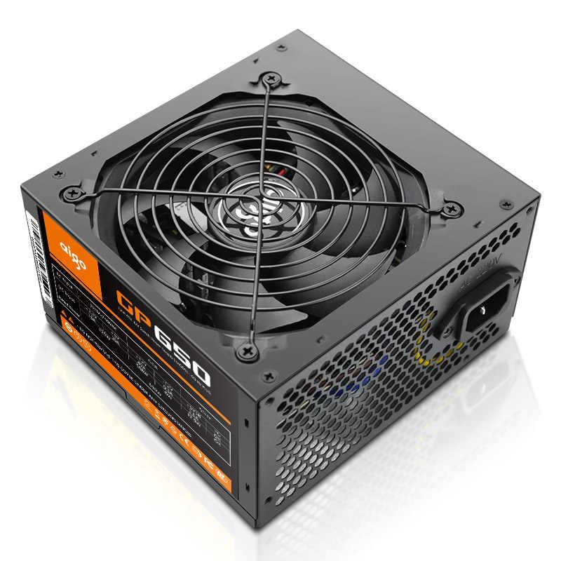 Aigo Power Supply PC 650W 12V ATX PSU 80Plus Bronze Uni Eropa Plug Pasokan Listrik untuk Komputer intel AMD 12 Cm Fan ATX Power Supply