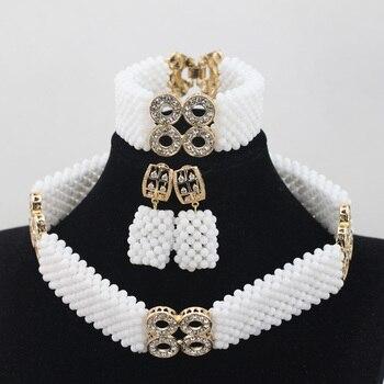 White Coral Beads Jewelry Sets Bridal Jewelry Sets Trendy Design African Beads Jewelry Sets Nigeria Wedding Free ShippingABH006