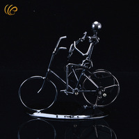 Hot Sale Iron Man Bicycle Metal Crafts Creative Christmas Decorations For Home Music Man New Year