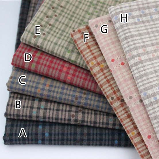 50x70cmyarn teinture tissu 100 coton tissu pour patchwork couette coton waffle motif tissus - Colorant Tissu