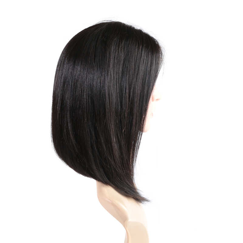 13X4 13x6 Dantel Ön Kısa Insan Remy Saç Bob Peruk Siyah Kadınlar Için 1B 613 Sarışın brezilyalı Düz Orta Kısmı 180% Yoğunluk