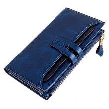 2017 New fashion women Genuine Leather wallet Womens purse Female luxury Designer Vintage Wallet Women coin Zipper Clutch