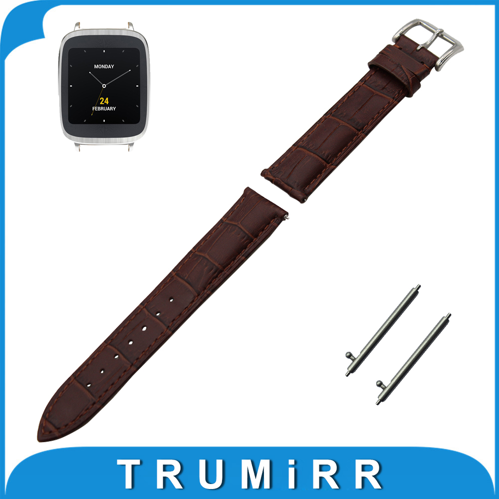 18mm First Layer Genuine Leather Watch Band Quick Release Strap for Asus Zenwatch 2 Women WI502Q Wrist Belt Bracelet Black Brown