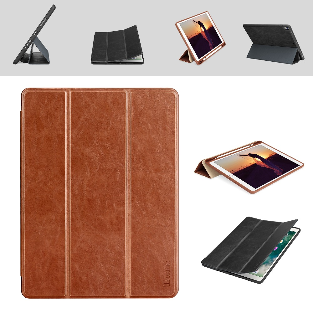 For iPad Pro 10.5 Case Leather Slim Smart Cover With Pencil Holder Wake Sleep Function For Apple iPad Pro 10.5 Shell A1701 A1709 ultra slim smart cover protective trid fold stand leather case w pencil holder for apple ipad pro 10 5 inch a1701 a1709 tablet