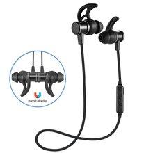 лучшая цена Wireless Bluetooth Sport Earphones Built In Microphone Runner Noise Canceling Headset In-Ears Call Center Smart  Phone Black