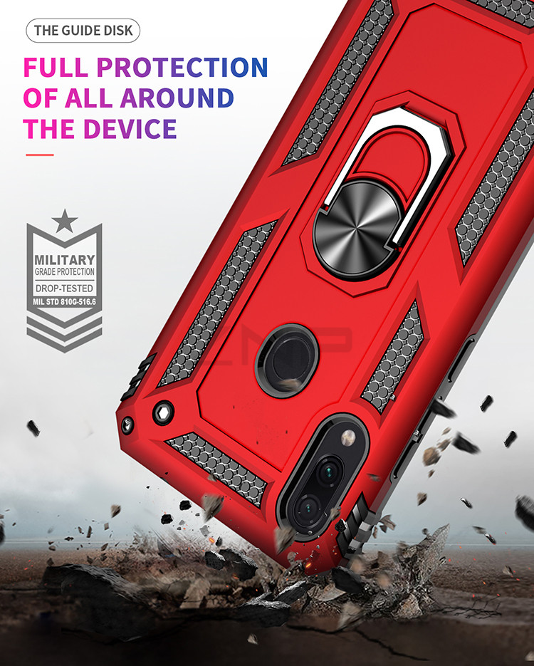 ZNP Luxury Armor Stand Case For Xiaomi And Redmi Note 7 8 Pro With Magnetic Ring Holder 10