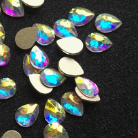 288Pcs 3x5 4x6 6x8mm 2155 Crystal AB Drop Nail Art Decorations Flat Back Non Hotfix Glitter