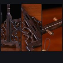 Chinese Brush Hanger Calligraphy Pen Holder Mahogany Wood Stand Hanging Brush Pen Rest Chinese Style Desk Decor Art Supplies