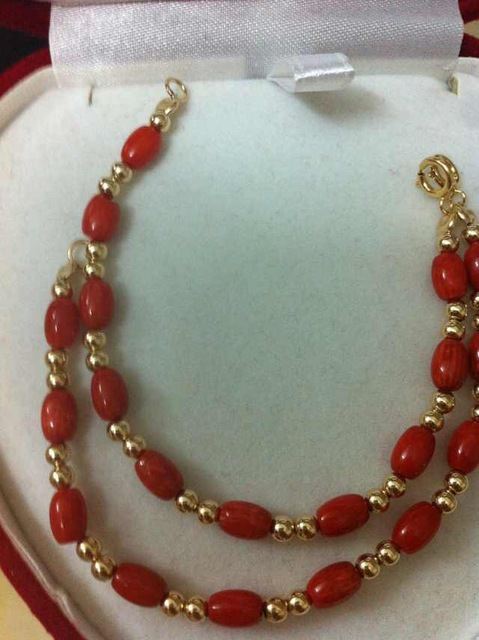 Red C Bracelet With 14kgold Baby S Birthday Gift