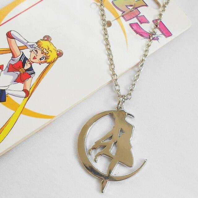 Acessórios Jóias Pingente de Colar De Metal Anime Sailor Moon Cosplay Sailor Moon