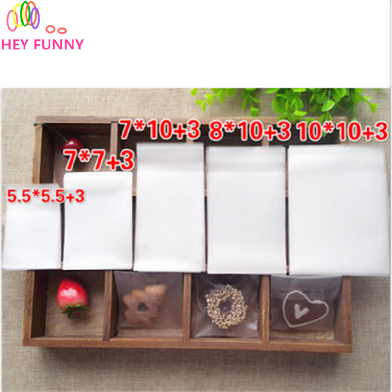 200pcs/lot candy bag Paper transparent candy bagcolor for sweet dessert handmade wrapping Shopping gift bag 5 size