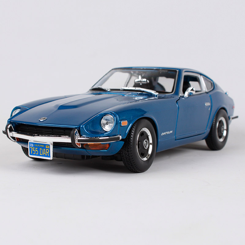 1:18 Diecast Alloy Sport Car Model Toy For Nissan Datsun 240z With Steering Wheel Control Front Wheel Steering With Original Box