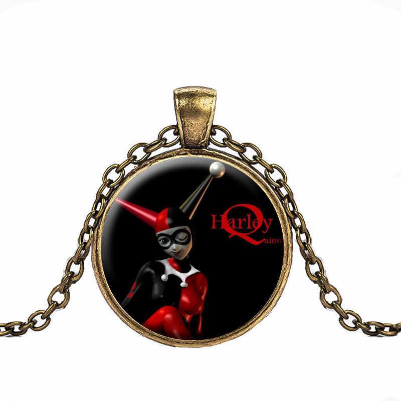 2018 nowy gorący! Cartoon Clown wisiorek naszyjnik szkło w stylu Vintage biżuteria prezent dla kobiety mężczyźni