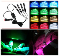4pcs Car Styling LED Decorative Atmosphere Lamps Car Light With Remote For Ford Focus 2 3