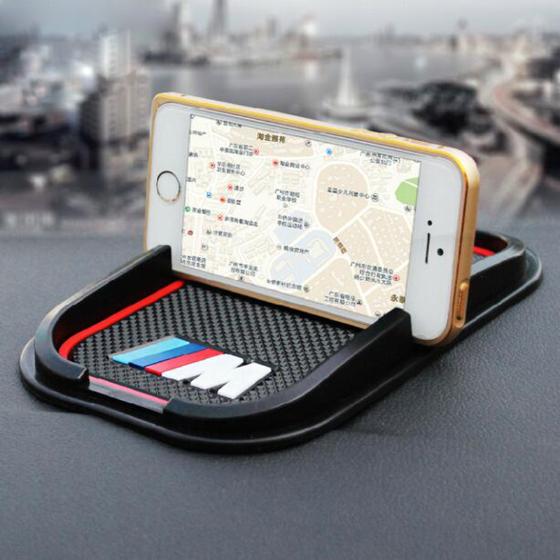 Car rubber phone mat font b GPS b font support Accessories For BMW M M3 M5