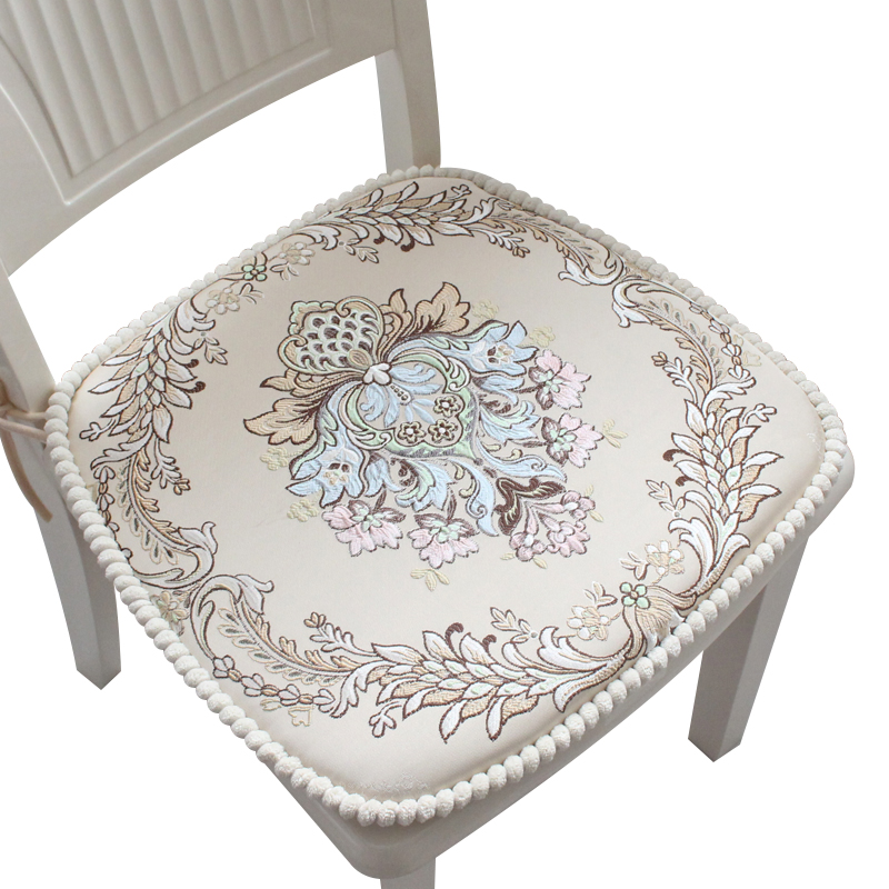 Tissu européen épaissi Decorativos pour la maison Coussins Coussin antidérapant Almofada pas rétractable Table à manger chaise Coussin Non shift