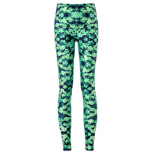 New Arrival 3585 Sexy Girl Green Plant Four Leaf Clover Printed Elastic Fitness Polyester Workout Women Leggings Pants