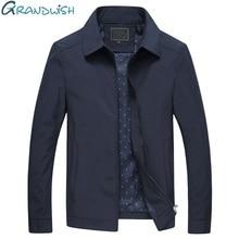 Grandwish мужская куртка весенне-осеннее пальто среднего возраста мужчины Turn-Down Воротник Slim Fit повседневные деловые куртки мужские. DA564