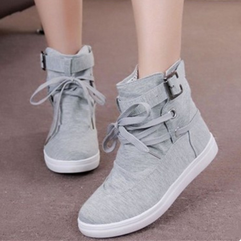 Women Boots 2017 Spring Autumn Fashion Ankle Boots Casual Flats Shoes Woman Outdoor Lace Up Comfortable High Quality Plus Size spring autumn boots women soft footwear classic boots female comfortable outdoor shoes aa20131