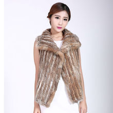 Real Best Sellers Fur rabbit fur Weave Vest fashion Woman Loose coat Warm. Leather and fur Of nature Grass yellow winter Jacket
